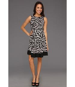 Vince Camuto - Sleeveless A-Line Abstract Dress
