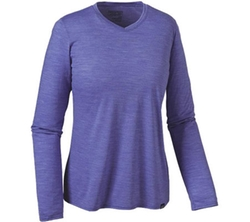 Patagonia  - Long-Sleeved Merino Daily V-Neck T-Shirt