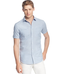 INC International Concepts - Short-Sleeve Button-Front Shirt