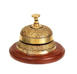 Store Indya - Classic Handmade Brass Reception Counter Table Top Push Bell