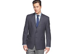 Calvin Klein - Navy Mini-Checked Sport Coat
