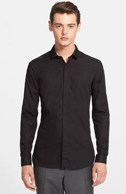 The Kooples  - Fitted Grosgrain Collar Dress Shirt