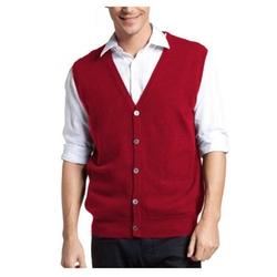 Parisbonbon - Cashmere V-Neck Cardigan Vest
