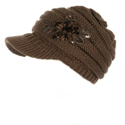 C.C Exclusives - Knit Newsboy Visor Cap