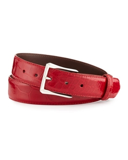 W.Kleinberg - Glazed Alligator Belt