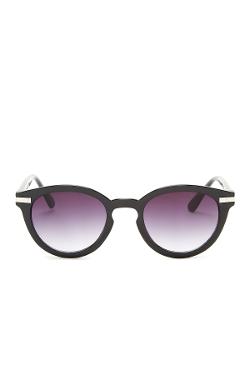 Vince Camuto - Round Retro Keyhole Bridge Sunglasses