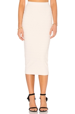 Twenty - Honeycomb Stretch Midi Skirt