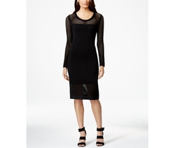 Calvin Klein - Illusion-Mesh Sweater Dress