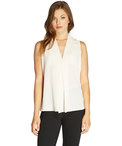 Bobeau - Front Pleat Blouse