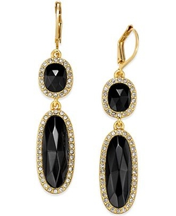 Kate Spade New York  - Pavé Stone Double Drop Earrings