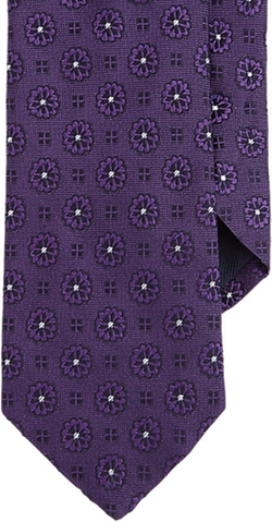 Barneys New York - Floral Medallion Neck Tie