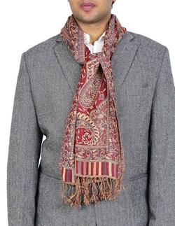 Shalinindia - Wool Paisley Neck Scarf