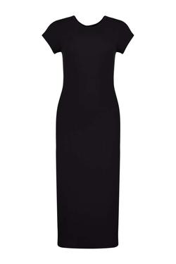 Boohoo   - Lola Cap Sleeve Midi Jersey Dress