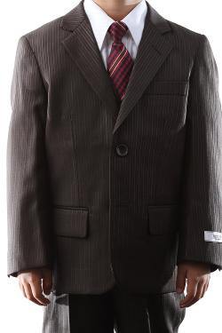 Abini/Braveman - Two Button Coffee Brown Boy Dress Suit