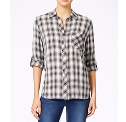 KUT from the Kloth - Plaid Button-Front Shirt
