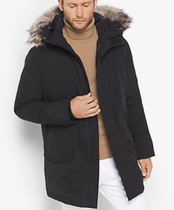 Michael Kors Mens - Faux-Fur Trimmed Tech Parka Jacket