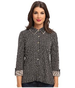 Jones New York - Double Collar High Low Blouse