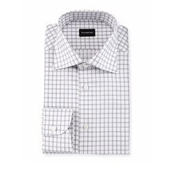 Ermenegildo Zegna - Contemporary-Fit Large Box-Check Dress Shirt