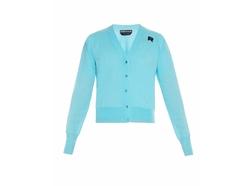 Rochas  - Logo-Patch Wool-Knit Cardigan