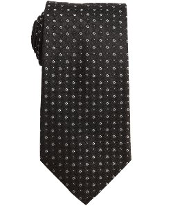 Salvatore Ferragamo - Black Printed Silk Tie