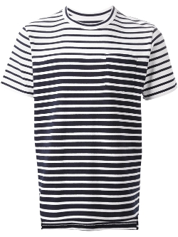 Sacai - Striped T-Shirt