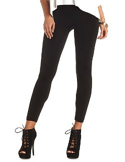 Charlotte Russe - High-Waisted Fleece-Lined Leggings