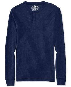 American Rag - Slub Thermal Henley Shirt
