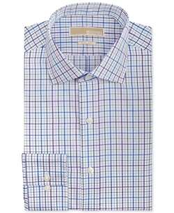 Michael Michael Kors - Water Blue And Purple Multi Check Dress Shirt