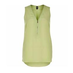 Ri Studio - Lime Zip Silk Blouse