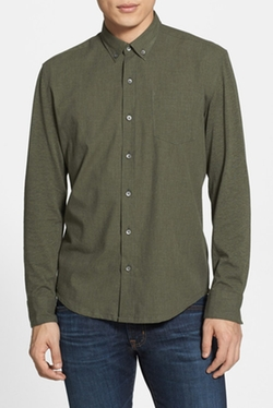 WRK - Slim Fit Heathered Sport Shirt