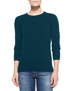 Neiman Marcus  - Crewneck Cashmere Sweater