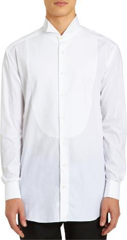 PIATTELLI - Textured Bib Tuxedo Shirt