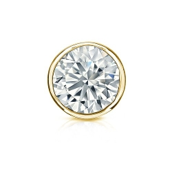 Diamond Wish  - Bezel Round Diamond Stud Earrings