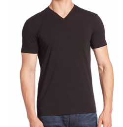Armani Collezioni - Stretch Cotton V-Neck Tee Shirt