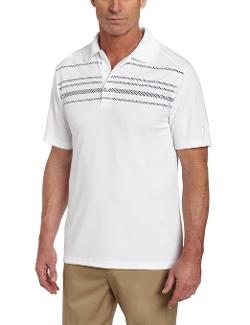 PGA Tour - Rope Argyle Engineer Print Stripe Polo Shirt