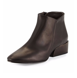 Coclico - Whit Leather Ankle Booties