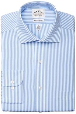 Eagle - Fit Non Iron Textured Stripe Shirt