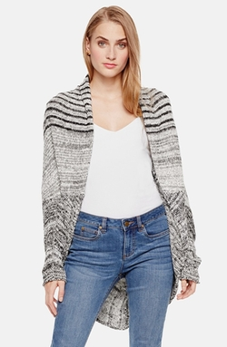 Two By Vince Camuto - Marled Stripe Open Front Cardigan