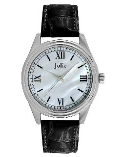 Jolie  - Silver-tone & Leatherette Strap Watch