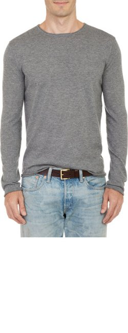 Barneys New York  - Rolled-Edge Pullover Sweater
