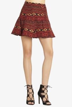BCBG Generation - Flared Jacquard Miniskirt