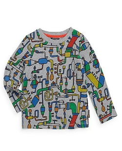 Marimekko  - Pipe Print Long-Sleeved Tee