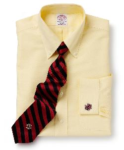 BROOKS BROTHERS - Boston College All-Cotton Non-Iron BrooksCool Regular Fit Dress Shirt