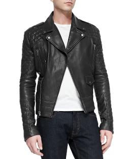 Andrew Marc x Richard Chai  - Phoenix Asymmetrical Leather Moto-Jacke