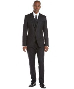 Dolce & Gabbana  - Pinstripe Wool Three Piece Suit