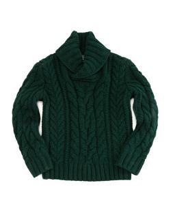 Ralph Lauren  - Childrenswear Aran-Knit Shawl-Collar Sweater