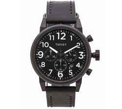 Tsovet - Leather Chronograph Watch