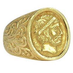 Torrini  - Socrates - Engraved Oval Yellow Gold Men