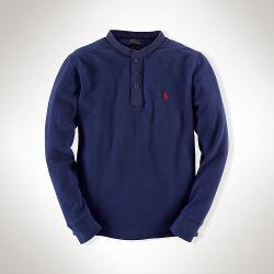 Ralph Lauren - Cotton Mesh Henley Shirt