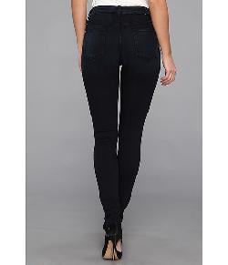 7 For All Mankind  - The High Waist Skinny in Black Weft Dark Blue
